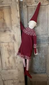 Bilde av Maileg nisse - mega pixy girl rød kjole